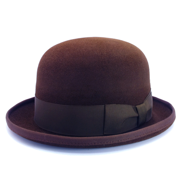 KNOX(ノックス) 【日本製最高品質帽子】ボーラーハット ラビットファーフェルト100% KBWL378(ブラウン)