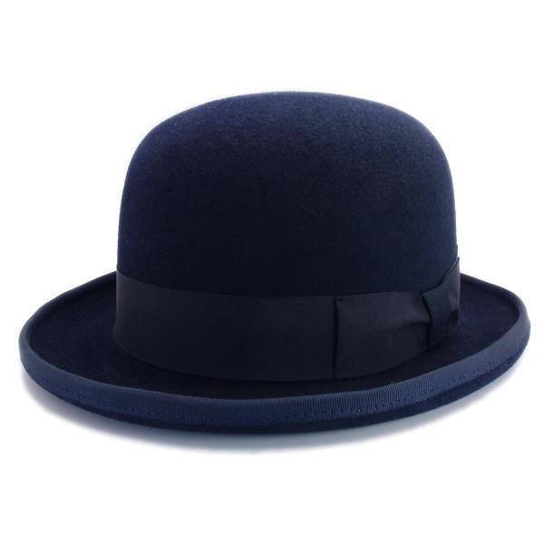 KNOX(ノックス) 【日本製最高品質帽子】ボーラーハット ラビットファーフェルト100% KBWL398(ネイビー)