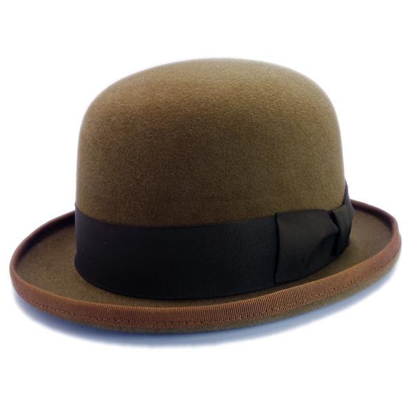 KNOX(ノックス) 【日本製最高品質帽子】ボーラーハット ラビットファーフェルト100% KBWL358(モカ)
