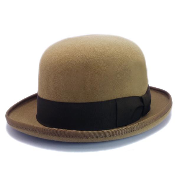 KNOX(ノックス) 【日本製最高品質帽子】ボーラーハット ラビットファーフェルト100% KBWL359(ベージュ)