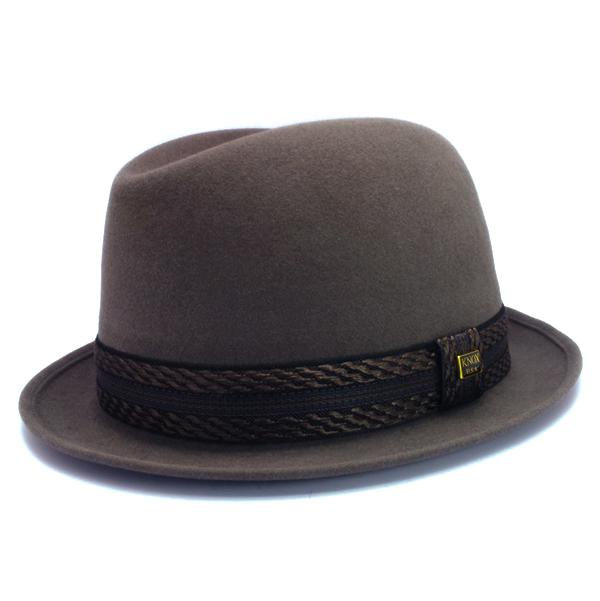 KNOX(ノックス) 【日本製最高品質帽子】コツバチロルハット ラビットファーフェルト100% KFNB328(チャコール)