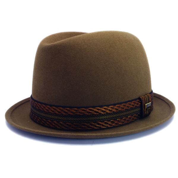 KNOX(ノックス) 【日本製最高品質帽子】コツバチロルハット ラビットファーフェルト100% KFNB358(モカ)