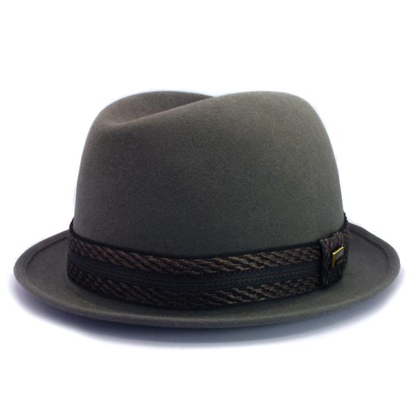 KNOX(ノックス) 【日本製最高品質帽子】コツバチロルハット ラビットファーフェルト100% KFNB338(グレー)