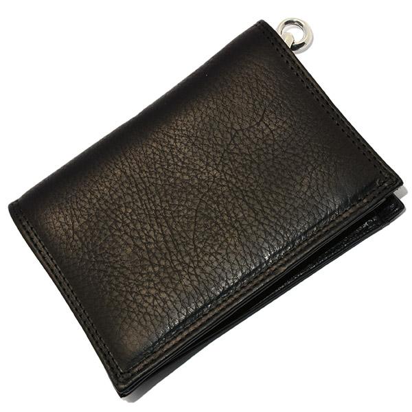 LONE ONES(ロンワンズ) MFW-0003 BK Leather w/2Slots ブラックレザー2スロットウォレット