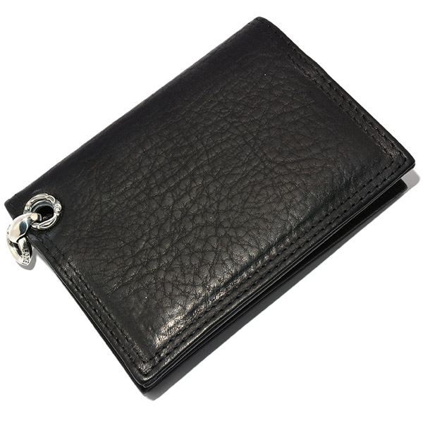 LONE ONES(ロンワンズ) MFW-0001 Card Case BK Leather w/2Slot カードケース ブラックレザー