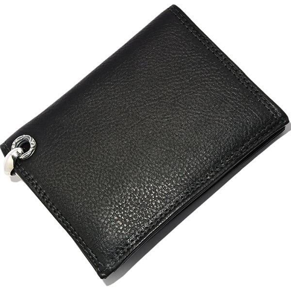 LONE ONES(ロンワンズ) MFW-0005 BK Leather 4Slots ブラックレザー4スロットウォレット