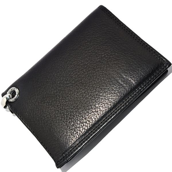 LONE ONES(ロンワンズ) MFW-0007 BK Leather Zipper Pourch ブラックレザージッパーウォレット