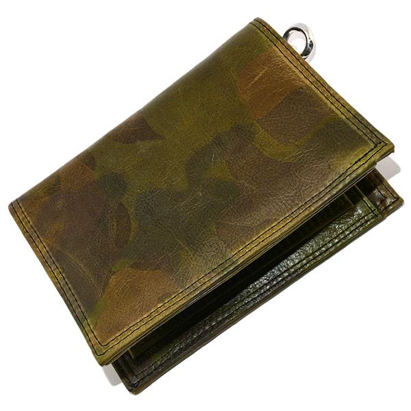 LONE ONES(ロンワンズ) MFW-0008 CAMO Leather w/Zipper Porch 2 Slots カモフラージュレザーw/ジッパーポーチ2スロットウォレット