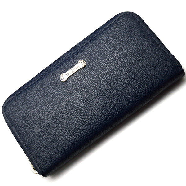 LONE ONES(ロンワンズ) Zipper Long Wallet SV Plate Navy MFW-0013-P-NVY