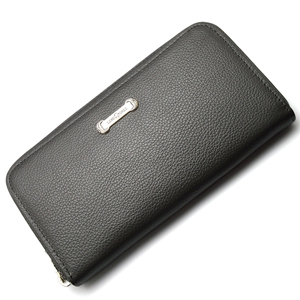 LONE ONES(ロンワンズ) Zipper Long Wallet SV Plate Gray MFW-0013-P-GRY