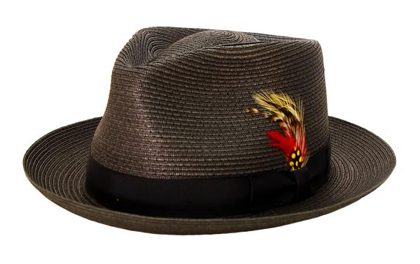 NEW YORK HAT(ニューヨークハット) ハット SEWN BRAID PINCH FEDORA/ブラック 2319
