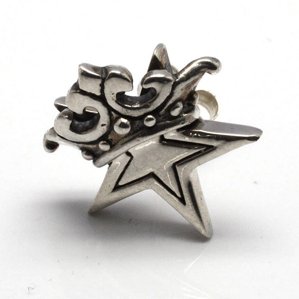 ROYAL ORDER(ロイヤルオーダー)  SE917  Small Solid Starw/Crown Studs 【1個単位】