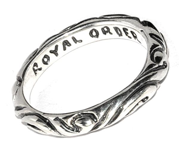 ROYAL ORDER(ロイヤルオーダー) 【人気ペアリング】RIBBON BAND RING リボンバンドリング SR30
