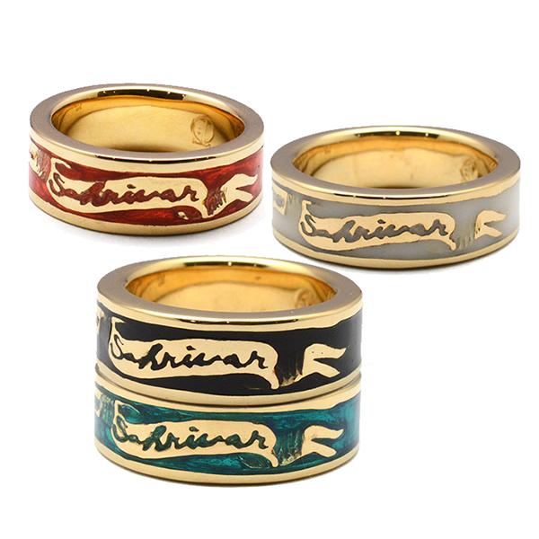SAHRIVAR (シャフリーバル) Enameled Ring(Brass×18K Plating)  SR50B14A