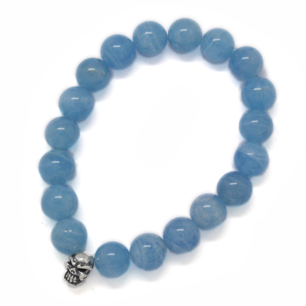 TRAVIS WALKER(トラヴィスワーカー) Aquamarine Stone Bead Bracelet SBC001/アクアマリンストーンビーズブレスレット