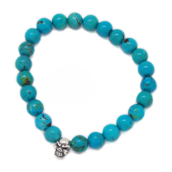 TRAVIS WALKER(トラヴィスワーカー) Turquoise 8mm Stone Bead Bracelet SBC007/ターコイズ8mmストーンビーズブレスレット