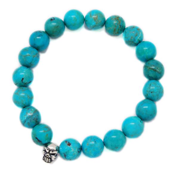 TRAVIS WALKER(トラヴィスワーカー) Turquoise 10mm Stone Bead Bracelet SBC008/ターコイズ10mmストーンビーズブレスレット