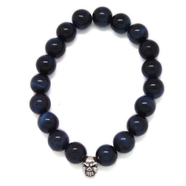 TRAVIS WALKER(トラヴィスワーカー) Blue Tiger Stone Bead Bracelet SBC010/ブルータイガーストーンビーズブレスレット