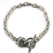 BWL(ビルウォールレザー)B563H Square Chain Link w/Lion スクエアチェーンリンクw/ライオン