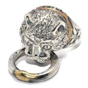 BWL(ビルウォールレザー)Kitty Cat w/mouth ring Gold overlay キティキャットマウスリングゴールドオーバーレイ R421RC