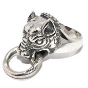 BWL(ビルウォールレザー)Boar w/mouth ring R424