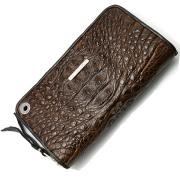 BWL(ビルウォールレザー) W949 Zipper Alligator Brown ジッパーアリゲーター ブラウン