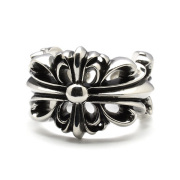 CHROME HEARTS(クロムハーツ)  ダブルフローラルクロスリング  Double Floral cross Ring