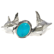 CRAZY PIG DESIGNS(クレイジーピッグ) TWO DOLPHINS BRACELET Stones setting #197