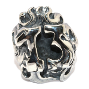 CRAZY PIG DESIGNS(クレイジーピッグ) NUMBER 13 FLAMES RING #1058 ナンバー13フレイムリング