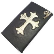 Gaboratory(ガボラトリー) Buffalo skin with grey frog wallet (Cross) / 164