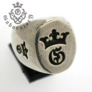 Gaboratory(ガボラトリー) G&Crown large signet ring G&クラウン ラージシグネットリング 155-A
