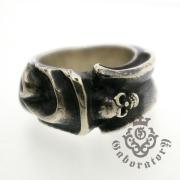 Gaboratory(ガボラトリー) Small gothic skull ring スモールゴシックスカルリング 158-A