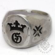 Gaboratory(ガボラトリー) G&Crown Small Signet Ring  G&クラウン スモールシグネットリング 154‐B