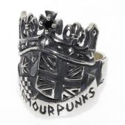 GLAMOUR PUNKS(グラマーパンクス) BRITISH CROWN RING / ブリティッシュクラウンリング 1101-0149
