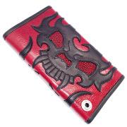 TRAVIS WALKER(トラヴィスワーカー) Large 3 Fold Wallet-Cow Hide RED  w/#54  4W04-54