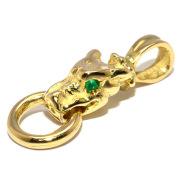 TRAVIS WALKER(トラヴィスワーカー) CHY090 Tiny Gargoyle Charm w/Emerald  タイニーガーゴイルチャームゴールド エメラルドアイズ