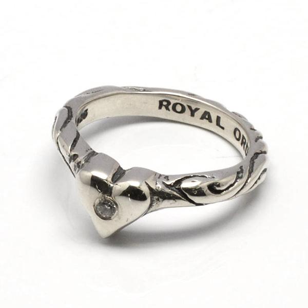 ROYAL ORDER(ロイヤルオーダー) SR926-CZ Ribbon Tiara Band w/Heart w/1 CZ