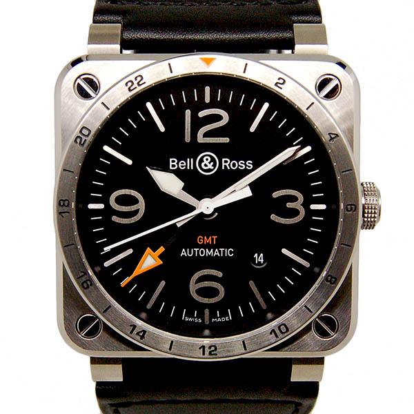 ベル&ロス BELL&ROSS BR03-93 GMT BR0393-GMT-ST/SCA 42mm ブラック 革ベルト 新品