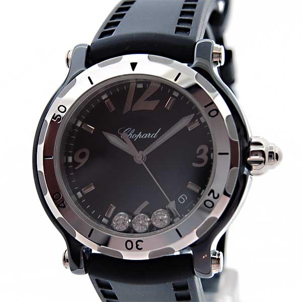 ショパール CHOPARD ハッピーセラミック 288507-9008 ブラック 世界3000本限定モデル セラミック×アルミ 新品