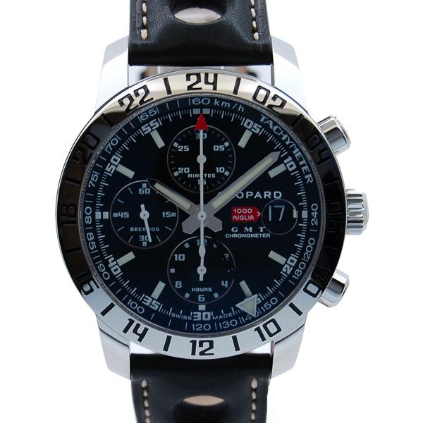 ショパール CHOPARD ミッレミリアGT XL GMTクロノ 自動巻 168992-3001 ブラック 革ベルト 新品