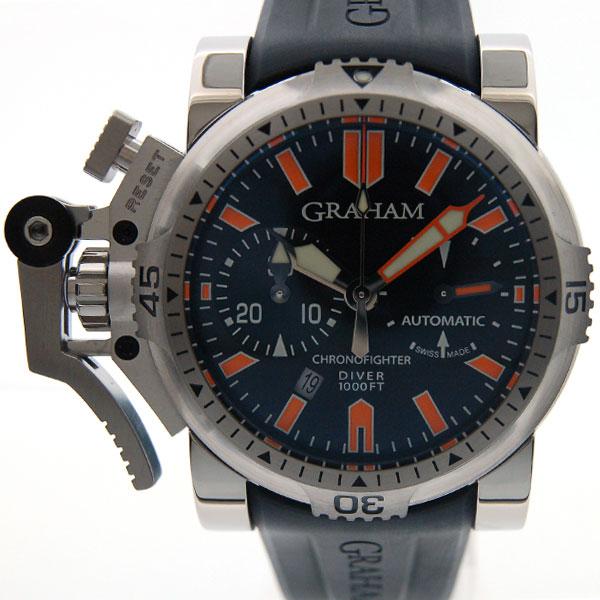 グラハム GRAHAM クロノファイター オーバーサイズ ダイバー オレンジシール 20VDES.B02A.K10B SS 46mm 新品