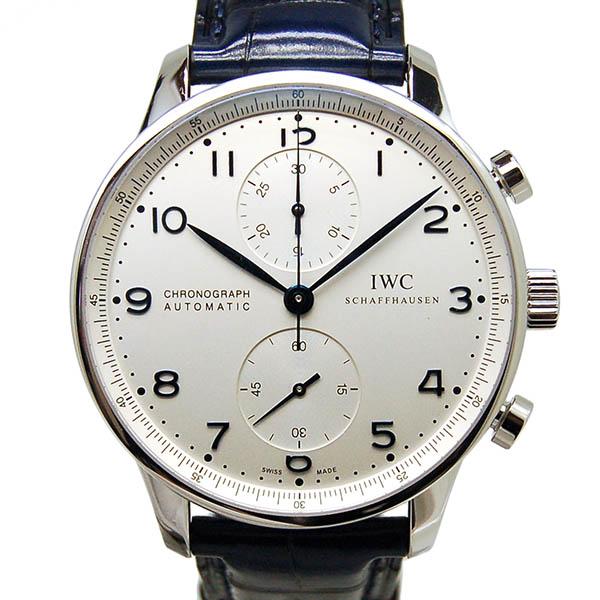 IWC インターナショナルウォッチカンパニー ポルトギーゼ IW371446 シルバー 青針 Dバックル 自動巻 新品