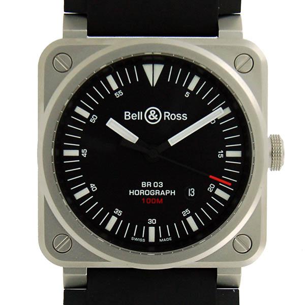 ベル&ロス BELL&ROSS BR03-92 ホログラフ BR0392-HOR-BLC/SRB ブラック 新品