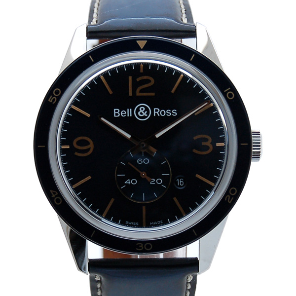 ベル&ロス BELL&ROSS ヴィンテージ アエロナバル BRV123-BLU-ST/SCA SS 42mm ブルー 新品