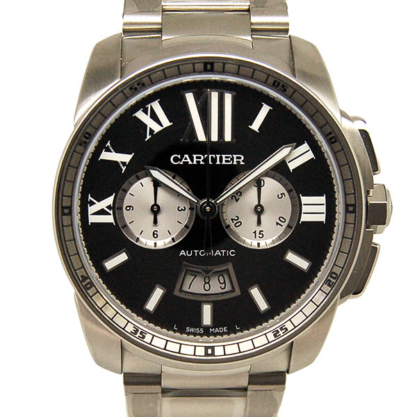 カルティエ CARTIER カリブル ドゥ カルティエ クロノグラフ W7100061 ブラック 新品
