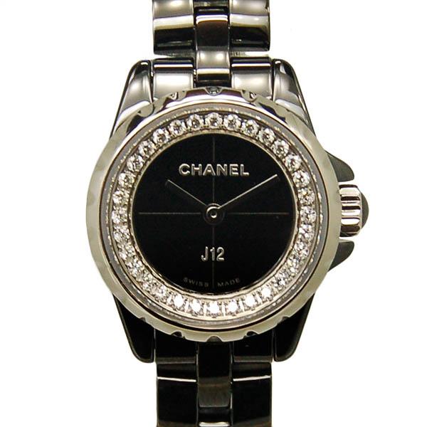 シャネル CHANEL J12 XS H5235 19mm フランジダイヤ レディース ブラックセラミック 新品
