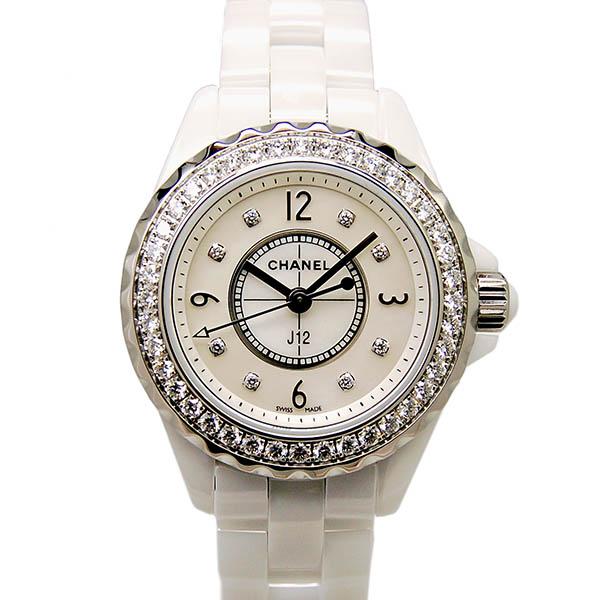シャネル CHANEL J12 H2572 ダイヤモンド 29mm ホワイト 新品