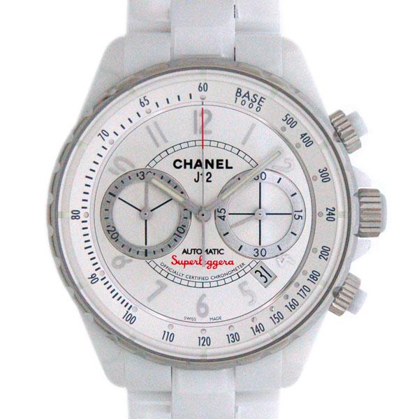シャネル CHANEL J12 スーパーレッジェーラ H3410 41mm ホワイトセラミック クロノグラフ メンズ 新品