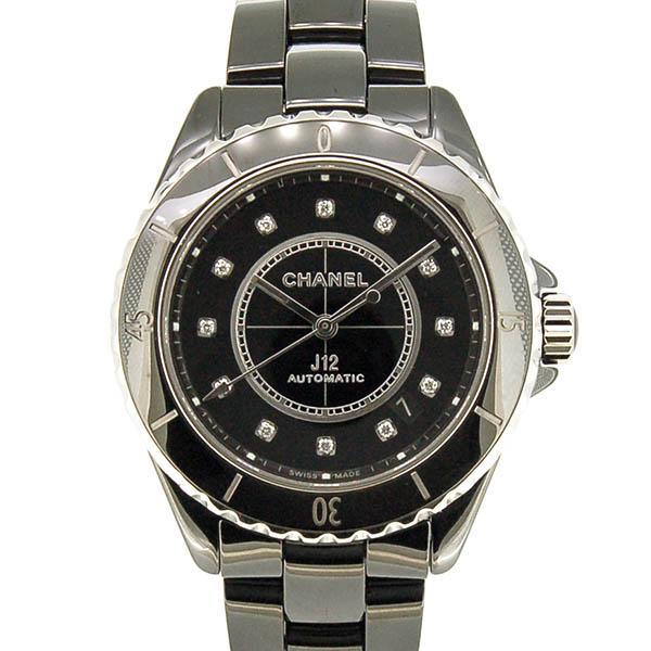 シャネル CHANEL J12 H5702 38mm 12Pダイヤ ブラック シースルーバック 新品