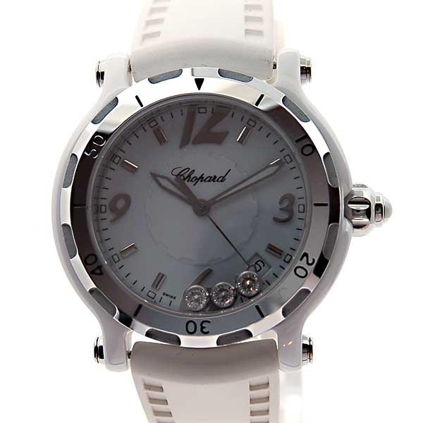 ショパール CHOPARD ハッピーセラミック 288507-9011 ホワイト 世界3000本限定モデル セラミック×アルミ 新品